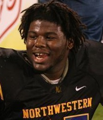 Northwestern defensive tackle Todd Chandler is one of two of UM's 2010 commitments.