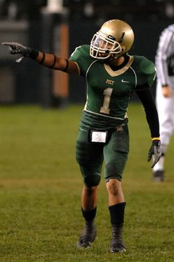 Vaughn Telemaque had three interceptions in a sectional championship game his senior year at Long Beach Poly