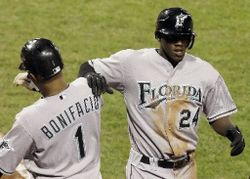 Cameron Maybin will bat leadoff for only the second time this season on Sunday when the Marlins face nemesis Jamie Moyer.