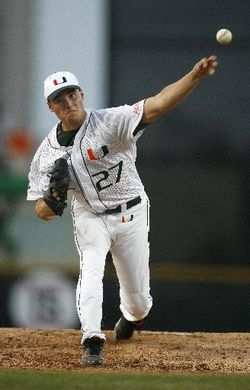 FSU scored four runs in the first off UM starter Chris Hernandez