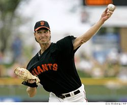 Randy Johnson will attempt to become the 23rd pitcher in MLB history to reach 300 wins