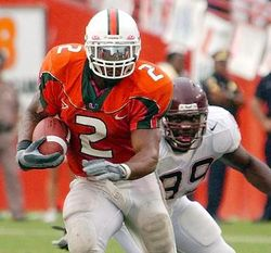 Willis McGahee set UM's single season rushing record in 2002 with 1,753 yards. No running back has run for 1,000 since.