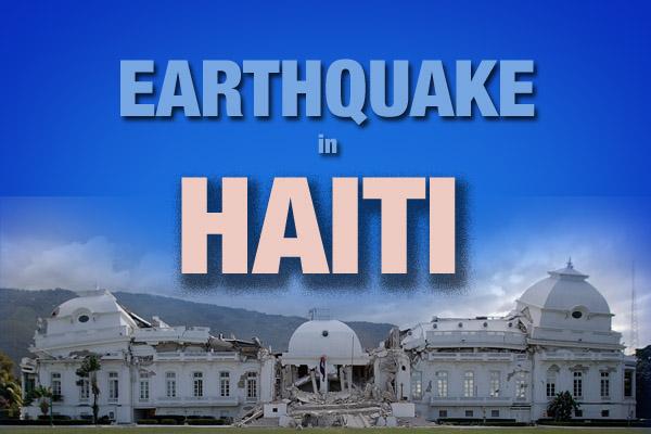 Earthquake in haiti logo