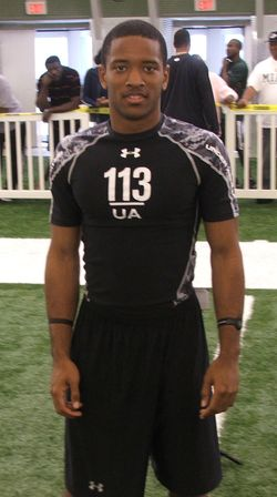 Columbus WR Tacoi Sumler was among the stars at Sunday's Under Armour combine
