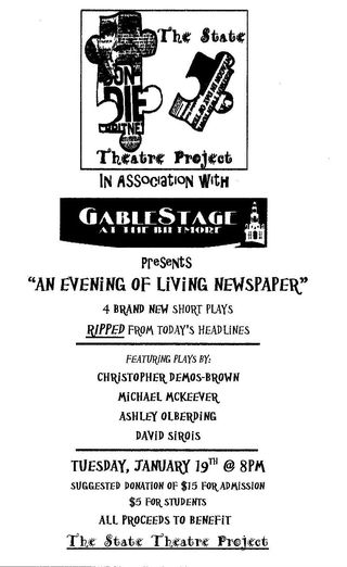 Living Newspaper Flyer