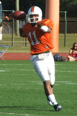 A.J. Highsmith threw 3 TDs as the passing game had a good day Saturday