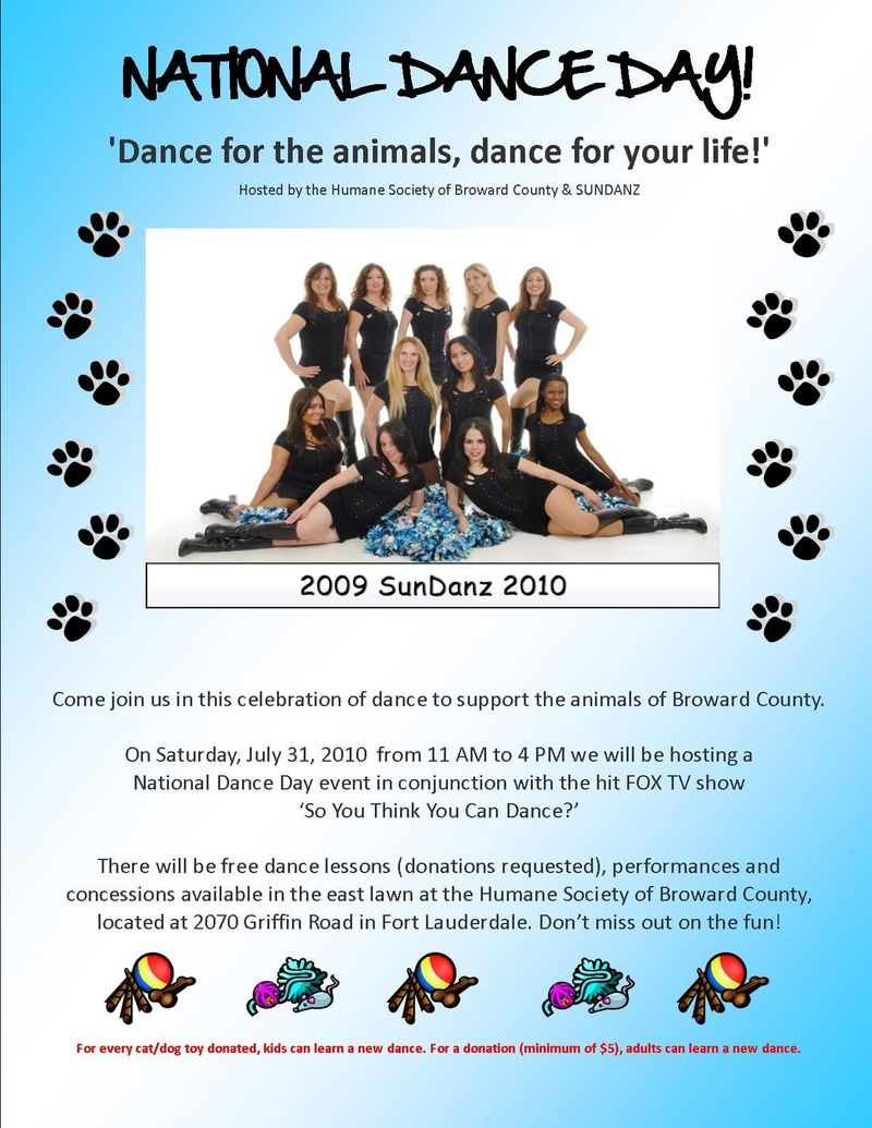 National Dance Day 2010 Flyer