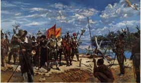 Landing of Menendez at the Miami River in 1565
