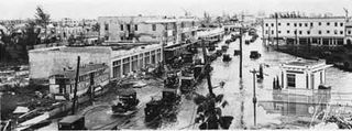 Miami Street after the 1926 hurricane