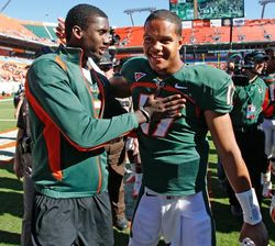 Jacory Harris and Stephen Morris