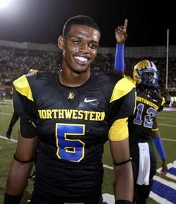 Tommy Streeter caught 3 TD passes in Northwesterns' win over Southlake Carroll in 2007.