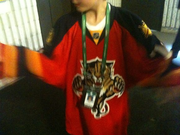Here is the 'New' Florida Panthers Jersey
