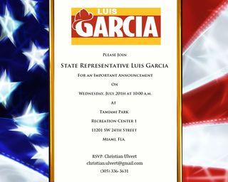 Luis Garcia invite