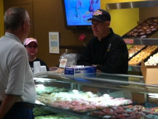 Rick Scott at bakery