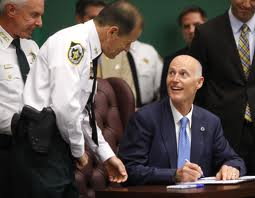 Rick Scott and police