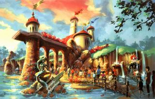 Little mermaid attraction rendering