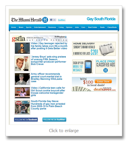 ... stories: Steve Rothaus' Gay South Florida now available by email in free ...