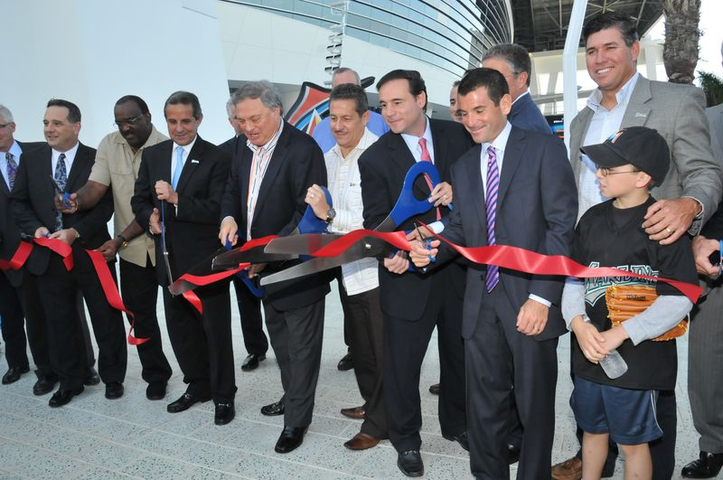 Marlins ribbon cutting