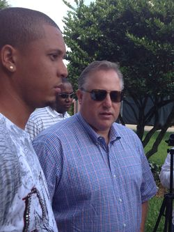 JC Oviedo, Larry Beinfest address the media in Jupiter