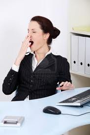 Yawning at work