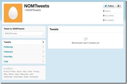nom tweets