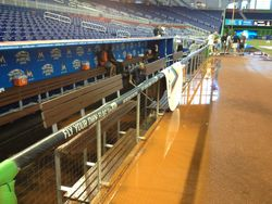Soaked dugout