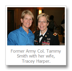 ... Army Colonel Tammy Smith has become the first openly gay flag officer to ...