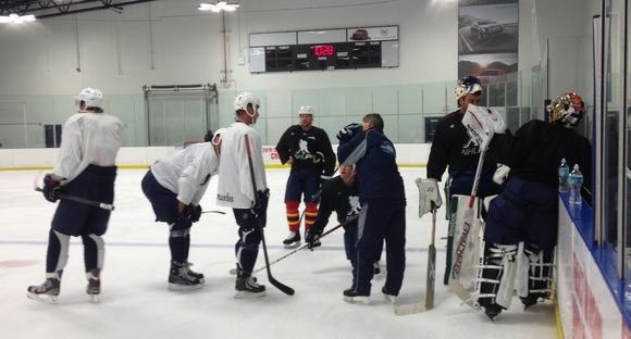 WORKING IT OUT: A Few Florida Panthers Left in Coral Springs as Lockout Rolls On