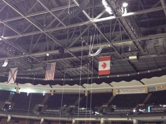 OUT WITH THE OLD: #FlaPanthers Change Up Banners at Arena