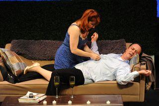 Irene Adjen (Emily) and Todd Durkin (David) in Green Dot Day - photo credit Rodrigo Gaya, WORLD RED EYE