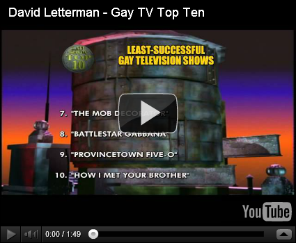 CBS video | David Letterman - Gay TV Top Ten. CBS has posted David ...