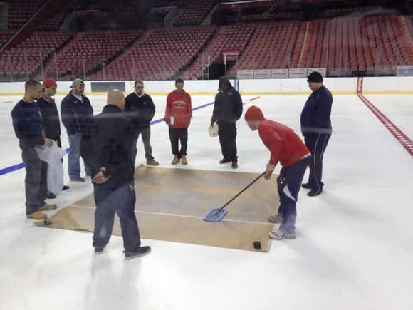 SUNRISE ICE: #FlaPanthers Arena Surface Taking Shape
