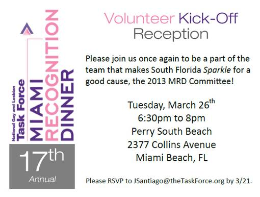 Recognition Dinner volunteer kickoff