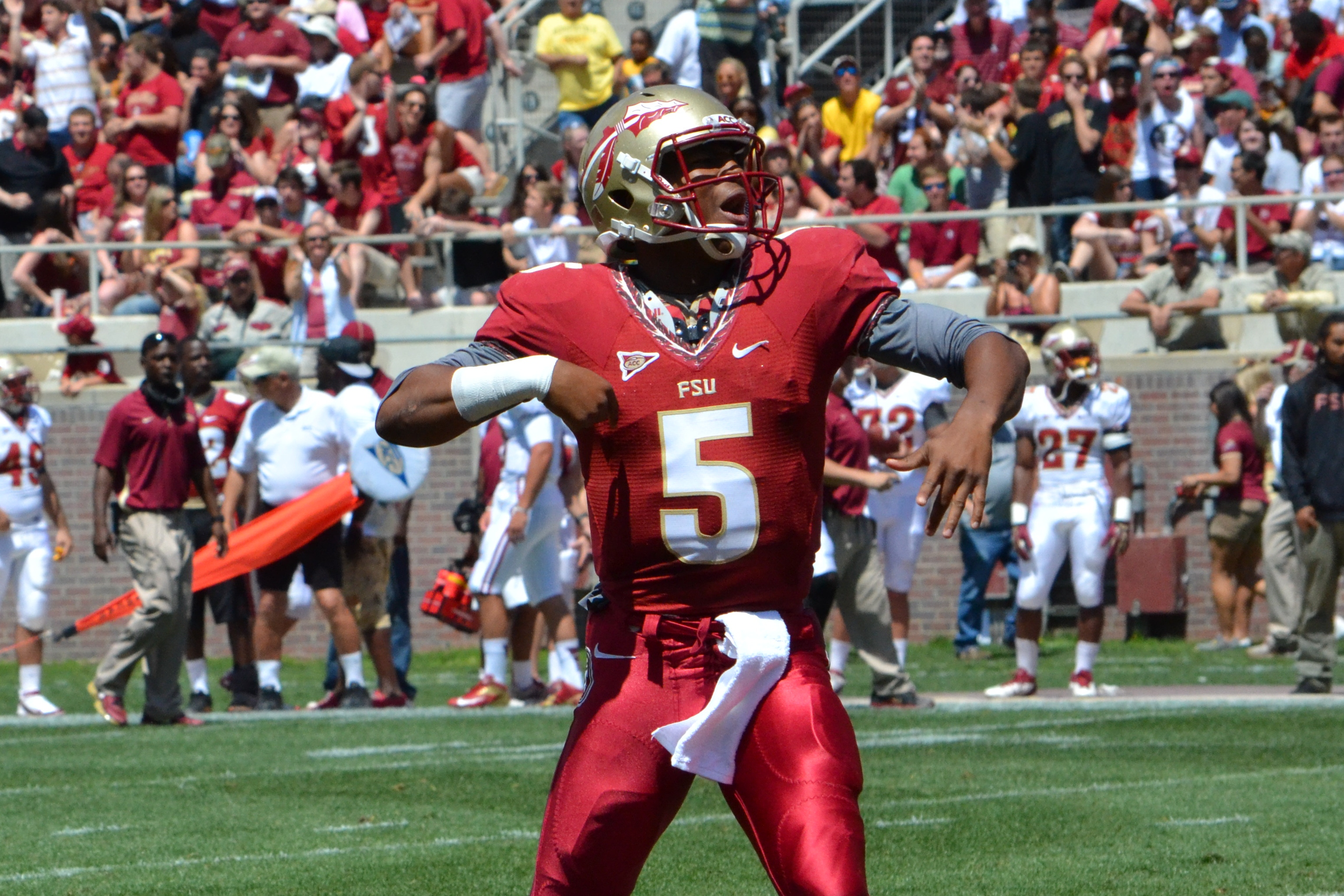 Jameis winston wins over fans in fsu spring game seminoles chant dsc0382 voltagebd Image collections