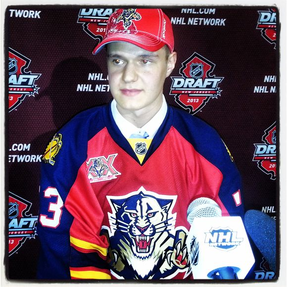 PANTHERS ON OFFENSIVE: Florida Takes C Sasha Barkov with Second Pick in NHL Draft