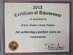 Scott certificate