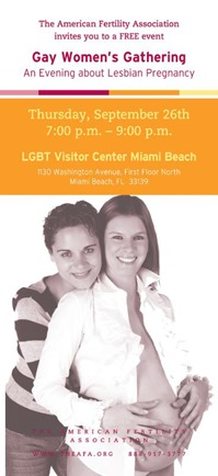 THE AMERICAN FERTILITY ASSOCIATION GAY WOMEN'S GATHERING A