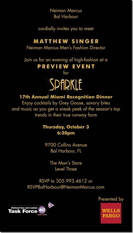 Miami Recognition Dinner Preview Event At Neiman Marcus - Oct. 3