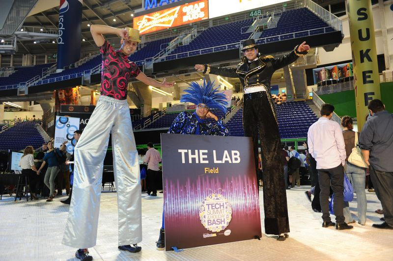 The LAB Miami Tech Circus exhibit