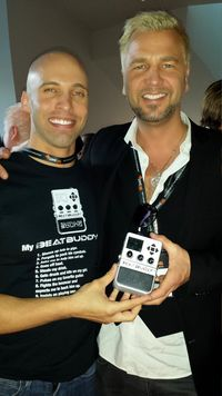 David with Ulf Ekberg (ace of base) and BeatBuddy