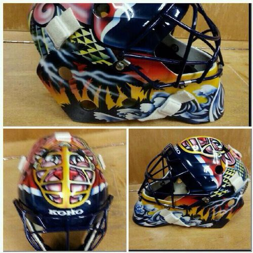 Masked Man Roberto Luongo Breaks Out Old Pink Panther Mask From