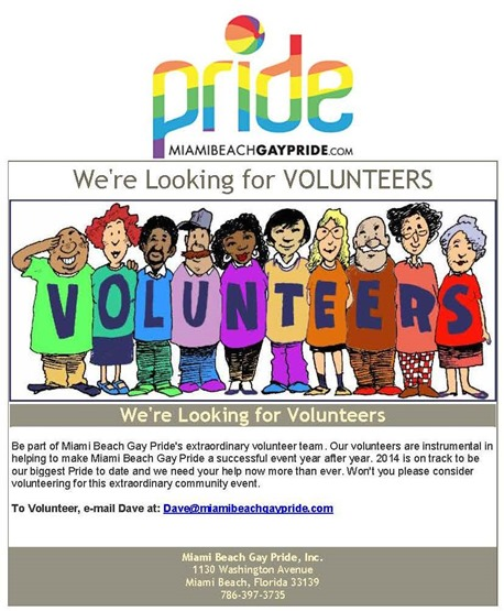 gay pride volunteers