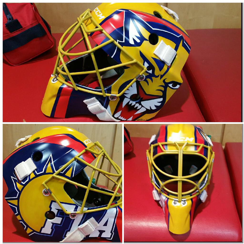 New Look For Louie Roberto Luongo Has Another New Mask On Frozen Pond