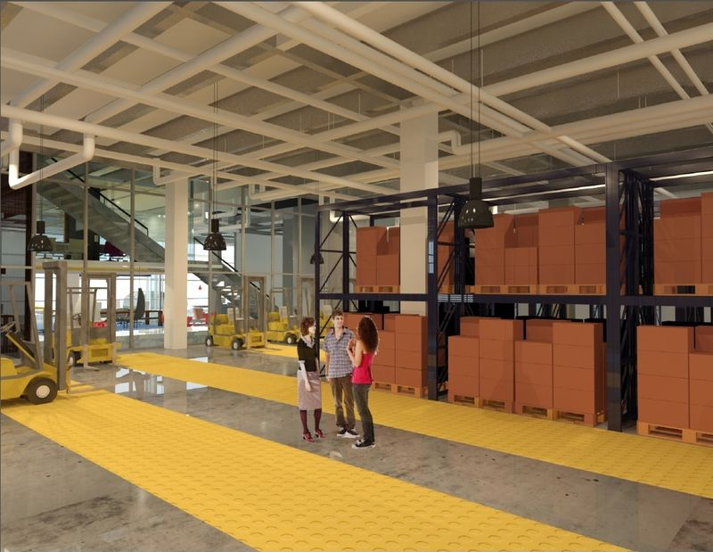 Interior of warehousing