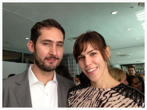 Kevin Systrom and Nicole Schuetz, Niche Media luncheon