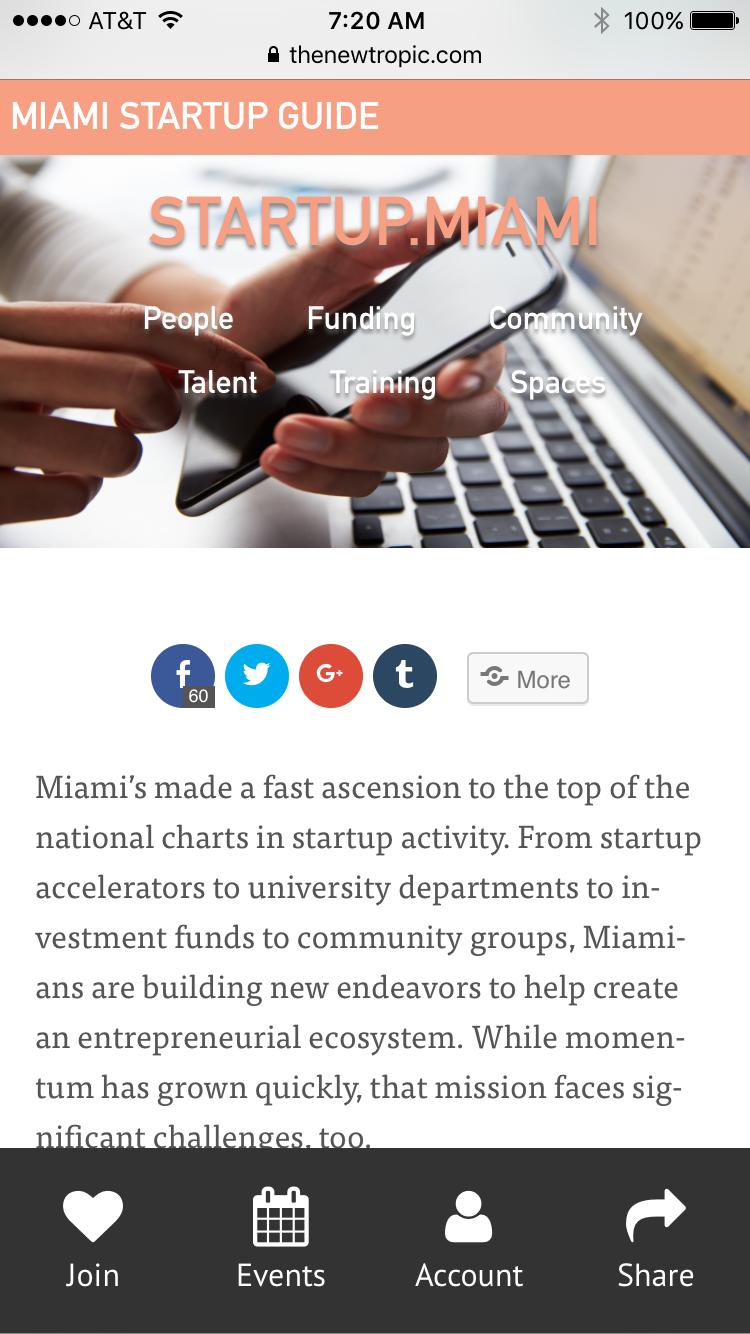 Startup miami provides guide to Miami's fast-growing startup scene