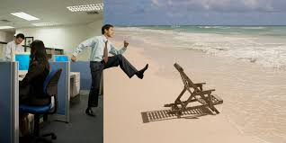 Worker on vacation