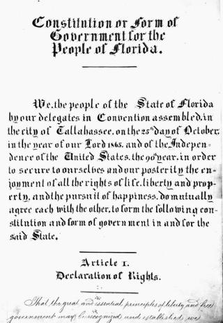 Florida Constitution Florida Memory