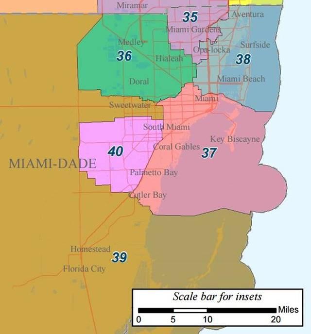 Miami District 40 map