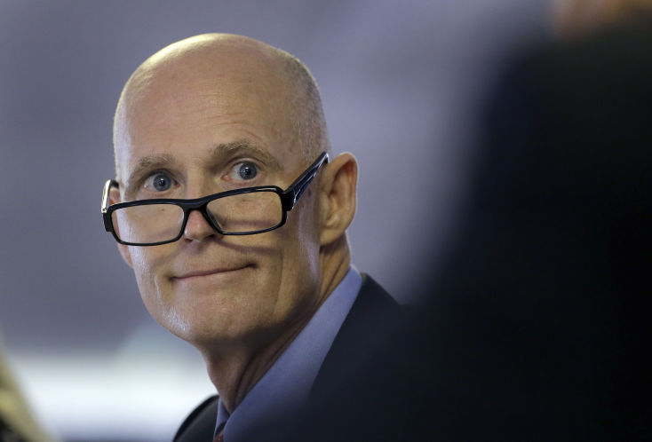Rick Scott profile glasses